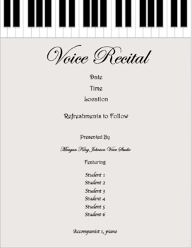 Recital Invitation