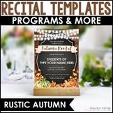 Recital Kit for Google Slides™: Invitations, Programs, Certificates {Editable}