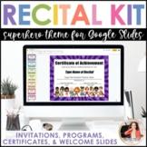 Recital Kit for Google Slides™: Invitations, Programs, Cer