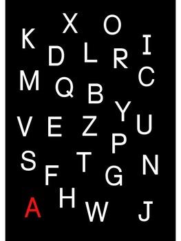 Recite alphabets in order