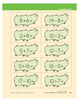Recites Addition and Subtraction Facts