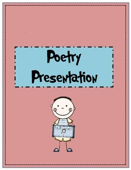 Reciting Poetry Presentation Letter and Rubric