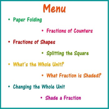 Recognising Fractions