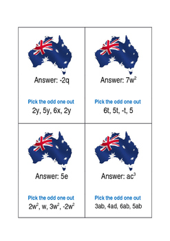 Recognising and Combining Like Terms