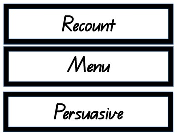 Recognising and labelling different text types