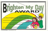 Recognition Awards and Certificates: Brighten My Day Award