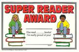 Recognition Awards and Certificates: Super Reader Award
