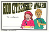 Recognition Awards and Certificates: Good Citizenship Award