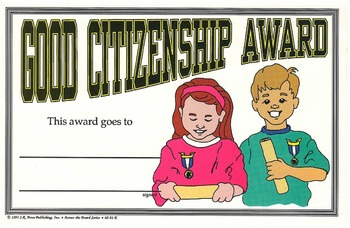 Recognition Awards and Certificates: Good Citizenship Award