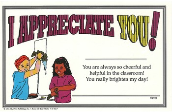 Recognition Awards and Certificates: I Appreciate You Award