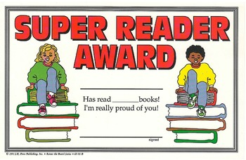Recognition Awards and Certificates: Super Reader Award