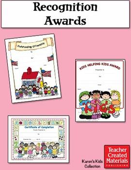 Recognition Awards by Karen's Kids (Digital Download)
