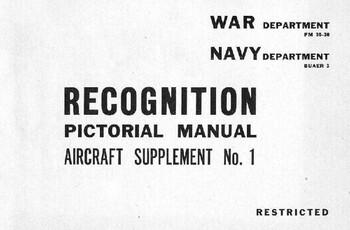 Recognition pictorial manual War & Navy department apr1943 rev. apr1946