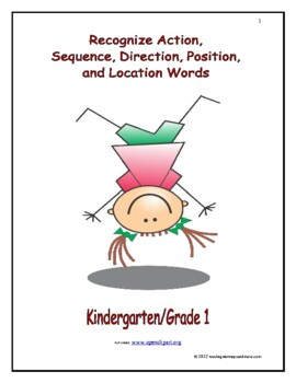 Recognize Action, Sequence, Direction, Position, and Location Words