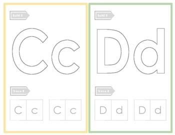 Recognize, Build, and Write Letters and Numbers Cards