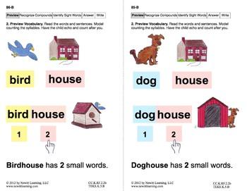 Recognize Compound Words: Lesson 8, Book 9 (Newitt Decoding Series)