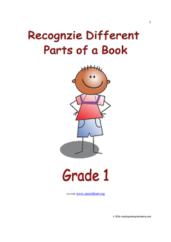 Recognize Different Parts of a Book: Introduce/Practice/Assess