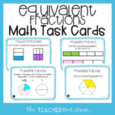 3rd Grade Equivalent Fractions Task Cards | Equivalent Fractions Math Center