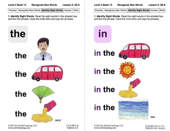 Recognize New Words: Lesson 5, Book 14 (Newitt Decoding Series)