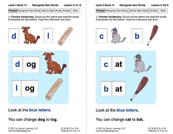 Recognize New Words: Lesson 6, Book 14 (Newitt Decoding Series)