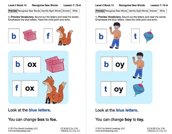 Recognize New Words: Lesson 7, Book 14 (Newitt Decoding Series)