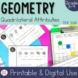 Recognize Quadrilaterals using Attributes Activities