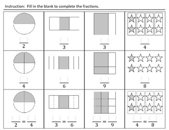 Recognize Simple Equivalent Fractions (H&I Activity Sheets)