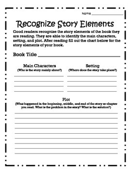 Recognize Story Elements