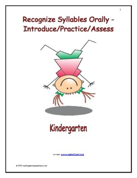 Recognize Syllables Orally - Introduct/Practice/Assess: Kindergarten