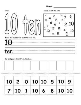 Recognize and Write Numbers 0-10