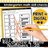 Recognize and Write Numbers 1-20 | Kindergarten Math K.CC.3