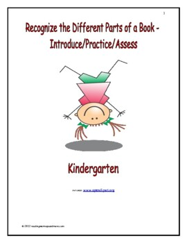 Recognize the Differfent Parts of a Book - Introduce/Practice/Assess