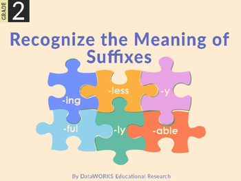 Recognize the Meaning of Suffixes