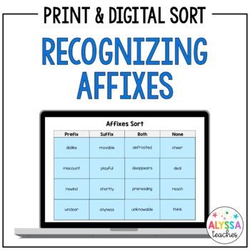Affixes Sort (Prefixes & Suffixes)