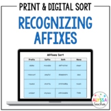 Affixes Sorting Activity (Prefixes and Suffixes) | Print and Digital