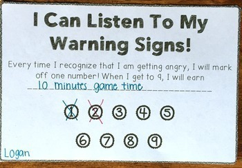 Identifying Anger - Anger Warning Signs Activity