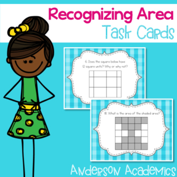 Recognizing Area Task Cards {3.MD.5}