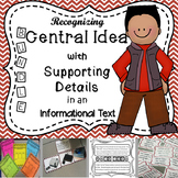 Recognizing Central Idea with Supporting Details - Informational Text (BUNDLE)