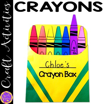 Colors and Color Words Crayon Craft