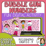 Recognizing Digits 0-9 Digital Resource Google Slides Digi
