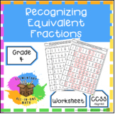 Recognizing Equivalent Fractions Worksheet (4.N.F.1)
