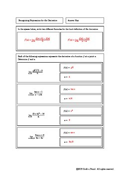 Recognizing Expressions for the Derivative