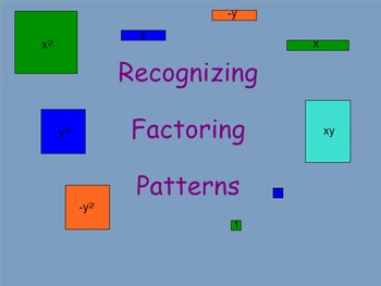 Recognizing Factoring Patterns Interactive Response Activity