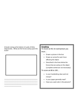 Recognizing Forces Homework Assignment