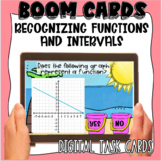 Recognizing Functions and Interpreting Intervals BOOM CARDS