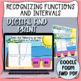 Recognizing Functions and Interval Task Cards (Digital and Print)
