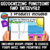 Recognizing Functions and Intervals Boom Cards, Google Qui