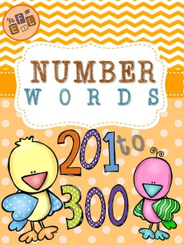 Recognizing Number Words 201-300