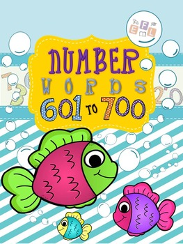 Recognizing Number Words 601-700