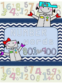 Recognizing Number Words 801-900